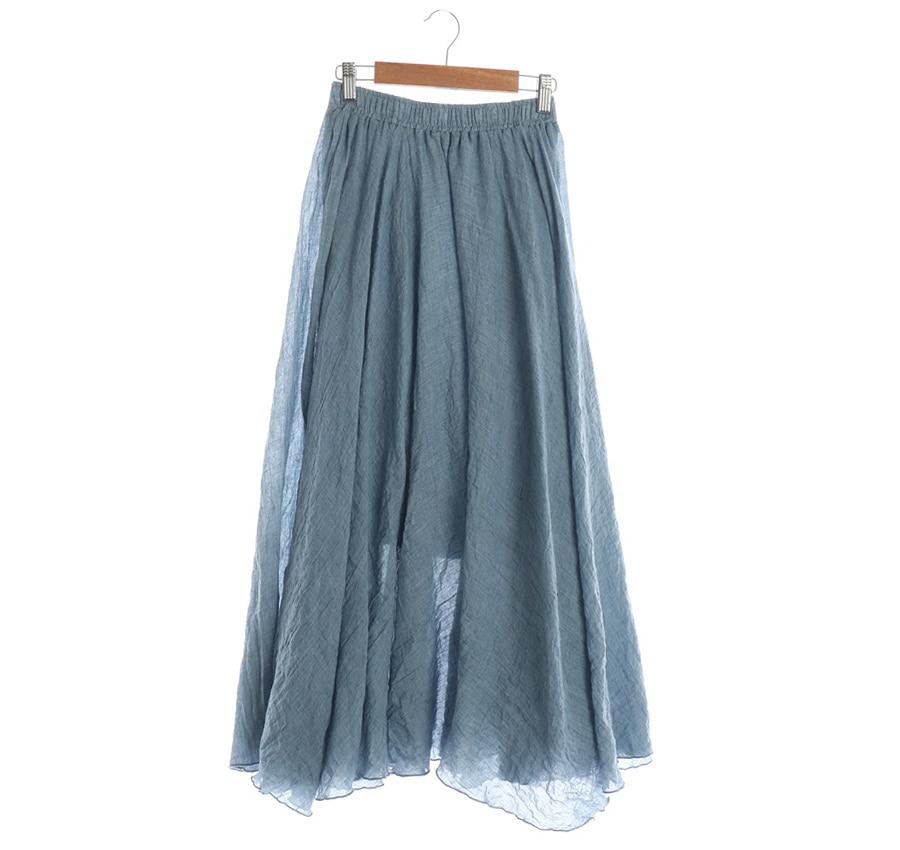SUNFLOWER린넨혼방스커트    16814n   WOMAN (허리단면: 30cm)