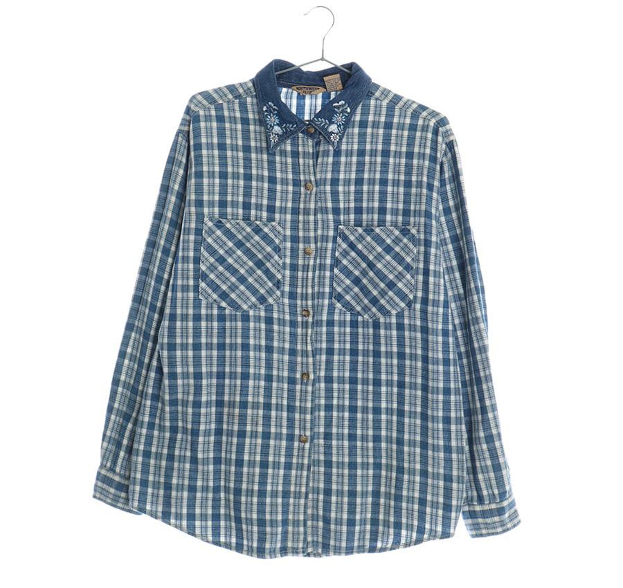 NORTHWEST BLUE셔츠    17138n   UNISEX(M)