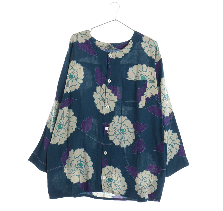 HAKURAI린넨혼방셔츠    17404n   UNISEX(L)